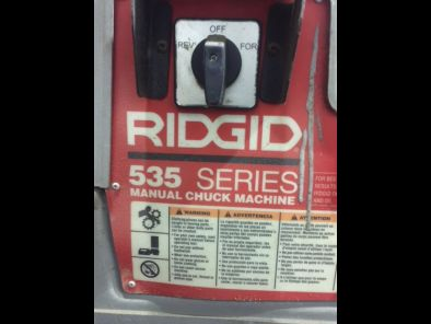 Ridgid 535 Series Pipe Threader - Click to Enlarge